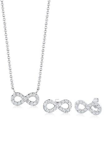 Elli Schmuckset »Infinity Zirkonia 925 Sterling Silber« kaufen