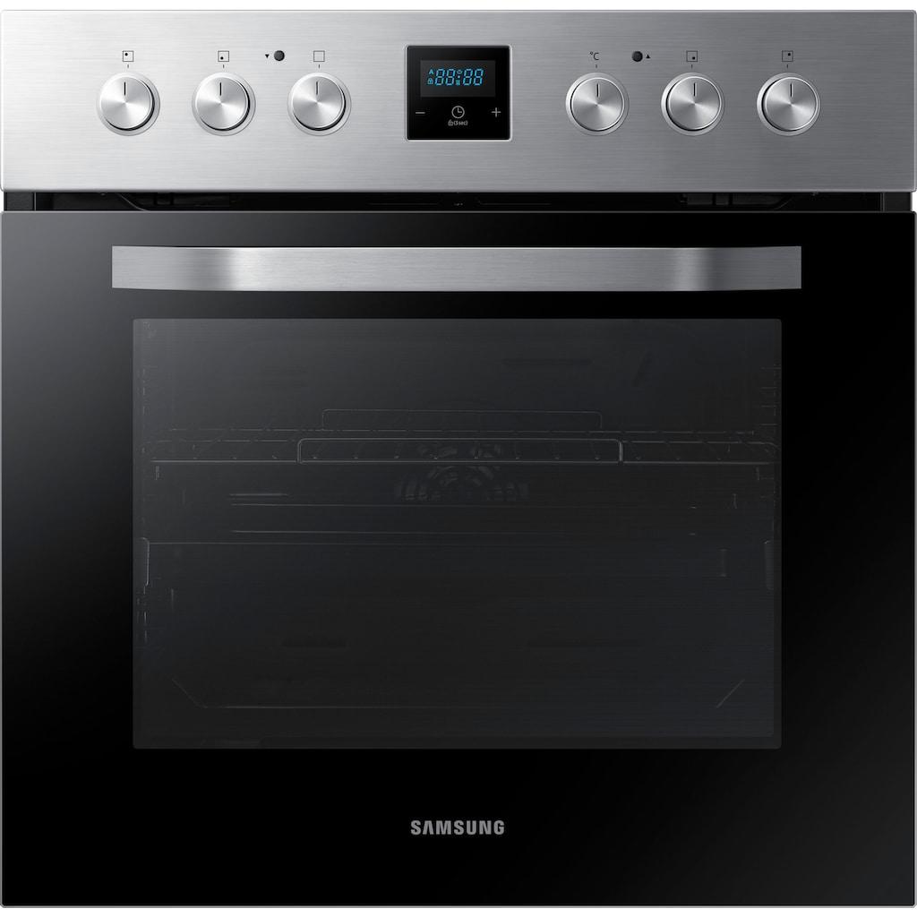 Samsung Elektro-Herd-Set »F-NB69R5750RS«, NB69R5750RS, mit 1-fach-Teleskopauszug, katalytische Reinigung, (Set)
