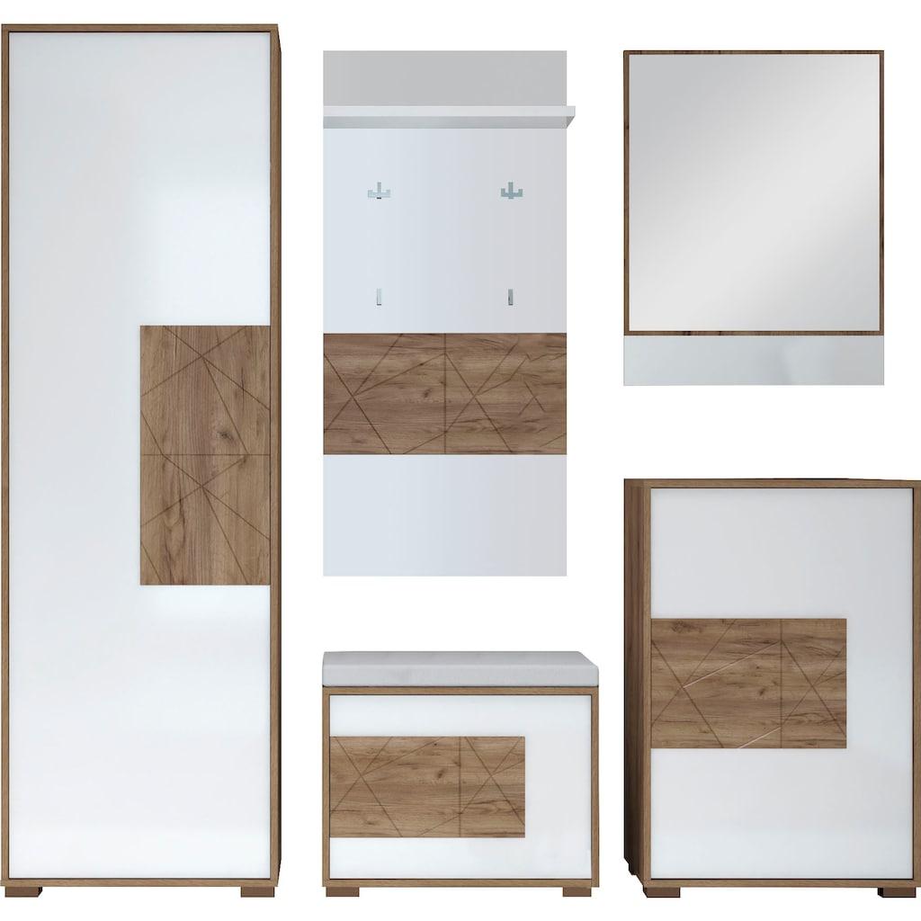 Places of Style Garderoben-Set »Stela«, (Set, 5 St.)