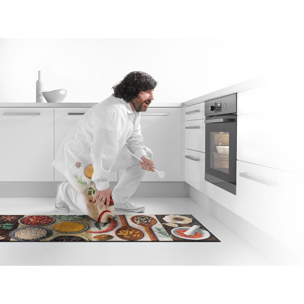 wash+dry by Kleen-Tex Küchenläufer »Hot Spices«, rechteckig, 9 mm Höhe, In- und Outdoor geeignet, waschbar