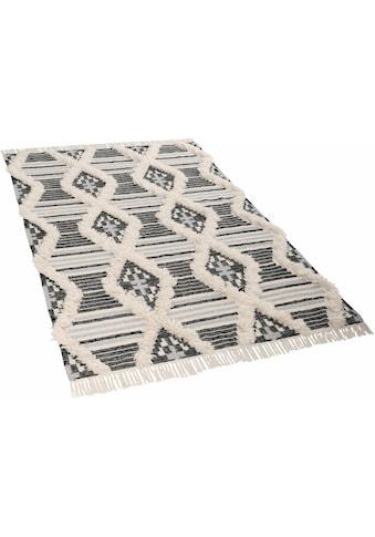 TOM TAILOR Teppich »Cozy Kelim«, rechteckig, 5 mm Höhe, Boho-Style, handgewebt, mit... kaufen