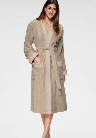 andas Unisex-Bademantel »Greta«, (1 St.), mit gestreiftem Kimonokragen kaufen