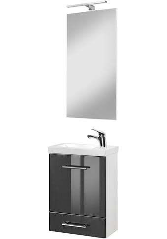 WELLTIME Waschplatz - Set »Trento«, Gästebad SlimLine Waschtisch Set, Breite 40cm, 4tlg. kaufen