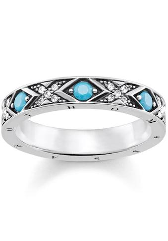 THOMAS SABO Silberring »Asiatische Ornamente, TR2162-347-17«, mit Glassteinen und... kaufen