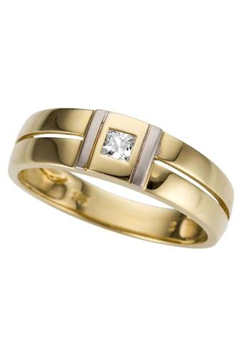 Firetti Goldring »bicolor, glanz, rhodiniert, massiv, teilweise mehrreihig,... kaufen