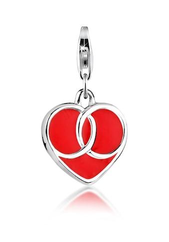 Nenalina Charm-Einhänger »Ewig-dein-Herz Liebe Anhänger Emaille 925 Silber« kaufen