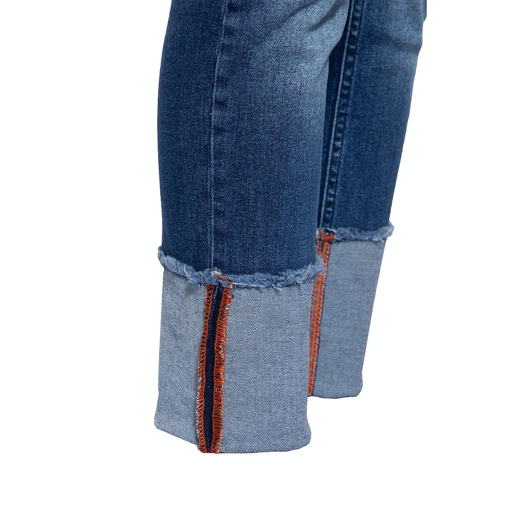 ATT Jeans Boyfriend-Jeans »Kira«, im Used Look mit Beinaufschlag