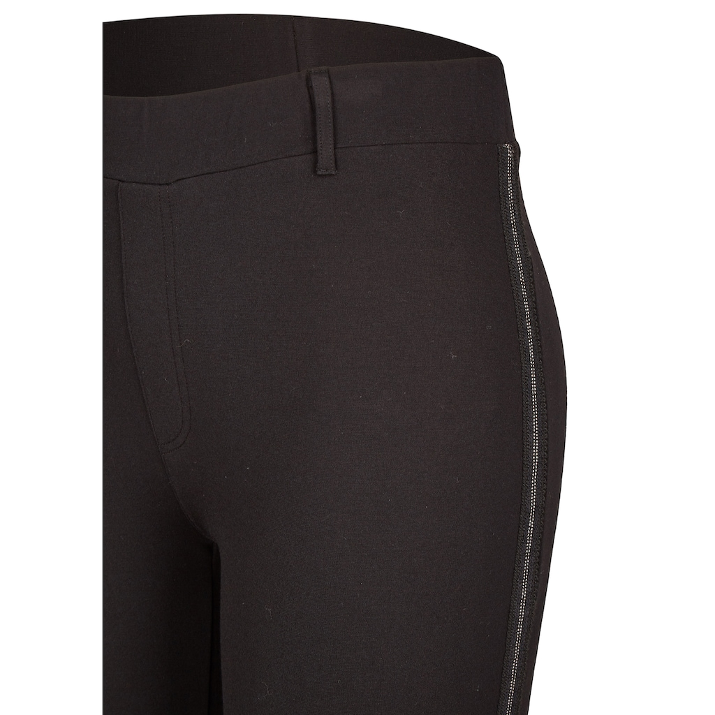VIA APPIA DUE Modische Hose mit Galonstreifen Plus Size