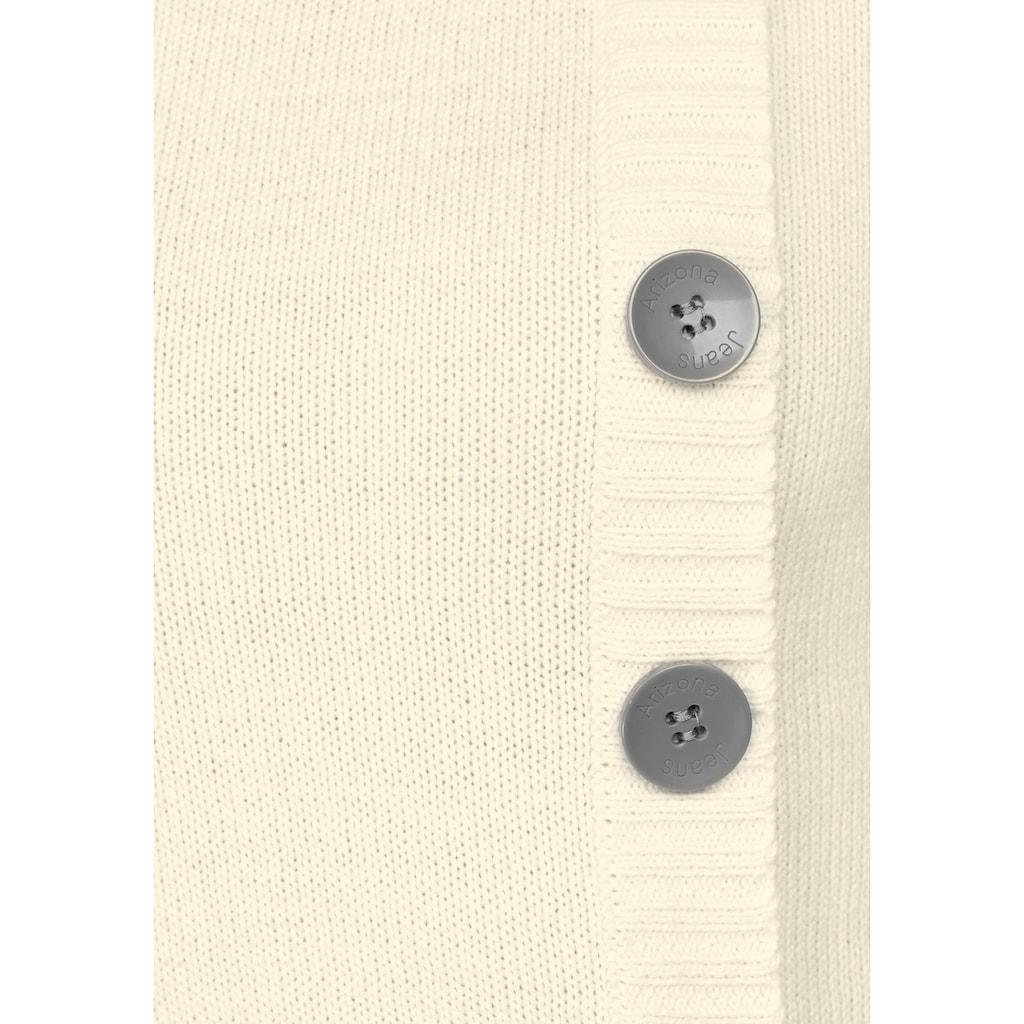 Arizona Rundhalspullover, Strickjackenlook mit Ellbogenpatches