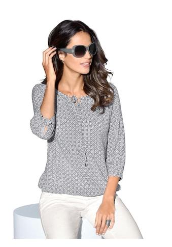 Classic Inspirationen Bluse in grafischem Minimaldessin kaufen