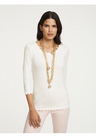 ASHLEY BROOKE by Heine 3/4 Arm-Pullover, mit Bogenkanten kaufen