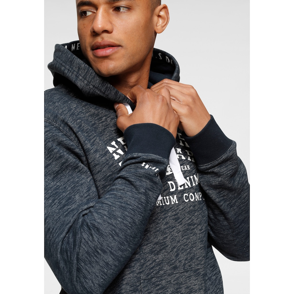 H.I.S Kapuzensweatshirt, mit bedrucktem Tape in der Kapuze