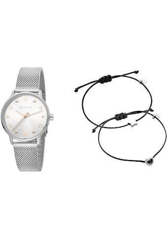Esprit Quarzuhr »Noel, ES1L174M0055«, (Set, 3 tlg., mit 2 Armbändern) kaufen