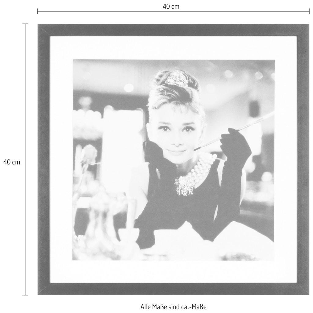 G&C Bild »Celebrities: Audrey Hepburn Motiv 2«, 40/40 cm, gerahmt