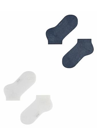 FALKE Sneakersocken »Happy 2-Pack«, (2 Paar), mit Kompakt-Baumwolle kaufen