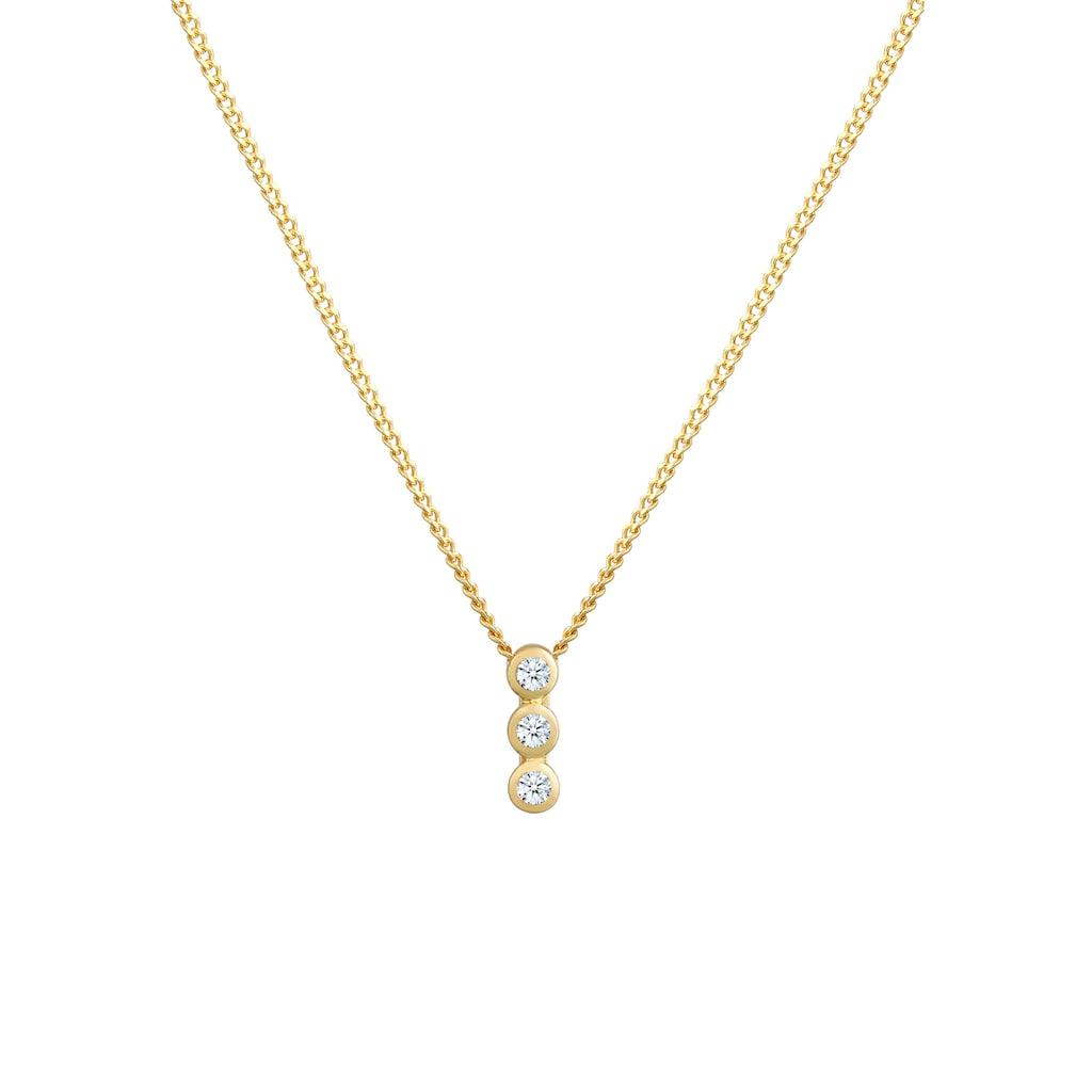 Diamore Collierkettchen »Kreis Geo Trio Diamant (0.045 ct.) 585 Gelbgold«