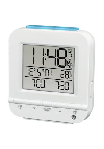 Hama Funkwecker Dual Alarm, 2 Weckzeiten, Lichtsensor, Weiß »digitaler Funk Reisewecker« kaufen