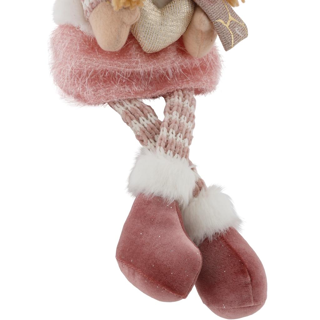 Kantenhocker »Engel mit Schal und Mütze«