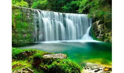 PAPERMOON Fototapete »Emerald Lake Waterfalls«, Vlies, in verschiedenen Größen kaufen