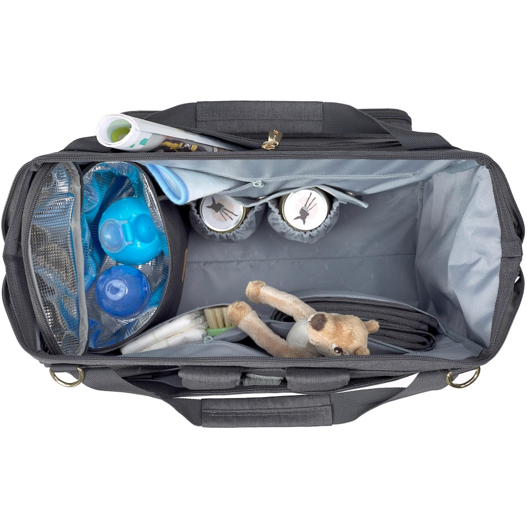 LÄSSIG Wickeltasche »Glam Goldie Twin, Backpack Anthracite«, PETA-approved vegan