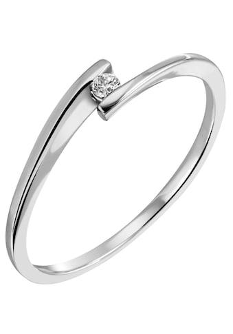 Firetti Diamantring »Solitär, modisch, Glanzoptik, massiv«, mit Brillant kaufen