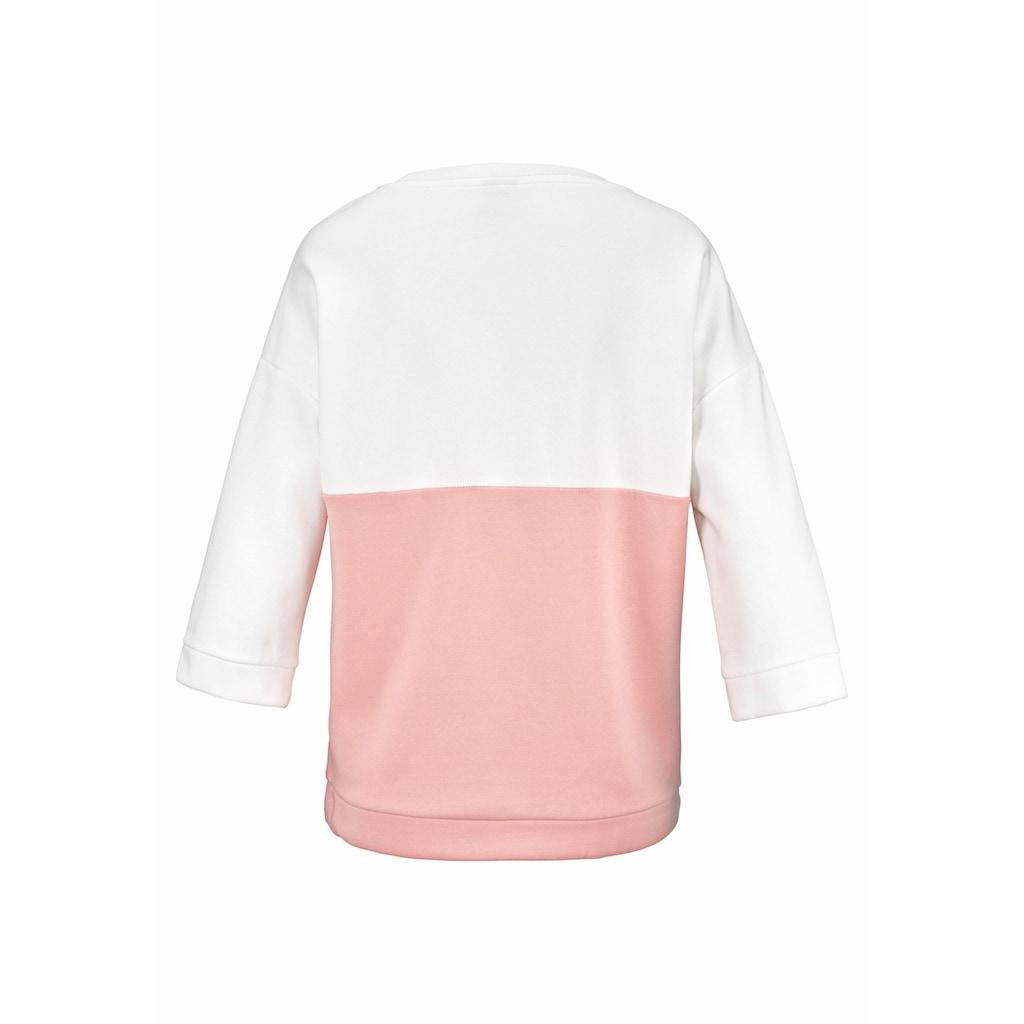 Bench. Sweatshirt, im Colorblocking Design