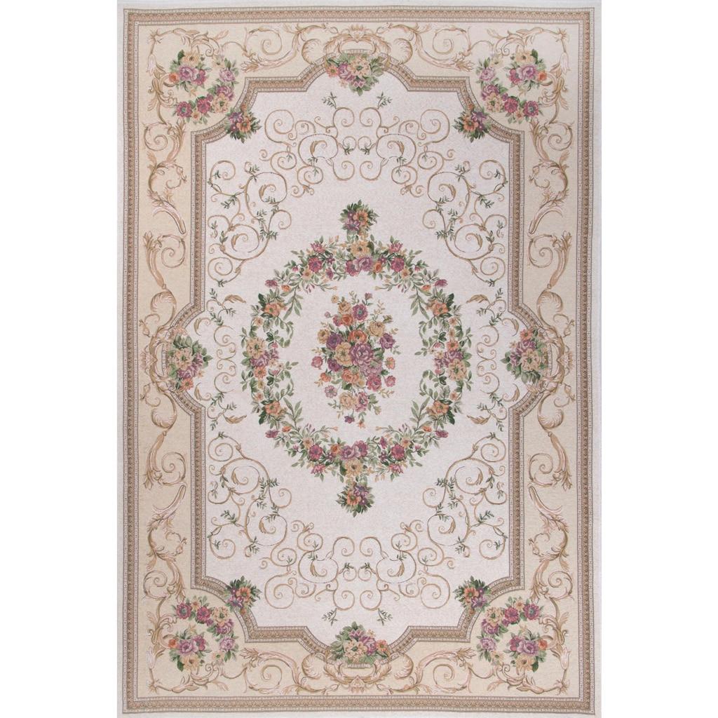 THEKO Teppich »Flomi Florentina«, rechteckig, 5 mm Höhe, Flachgewebe, Orient-Optik, Wohnzimmer