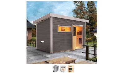 Karibu Saunahaus »Uwe 2«, 9-kW-Ofen mit ext. Steuerung kaufen
