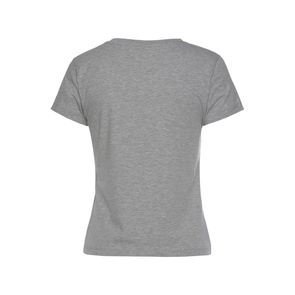 Bench. T-Shirt, mit senkrechtem Logodruck