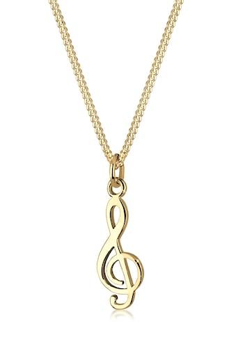 Elli Kette mit Anhänger »Notenschlüssel Musik Symbol 925 Silber« kaufen