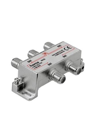 Hama Breitband - Kabelverteiler, 4 - fach, voll geschirmt »Antennenverteiler« kaufen
