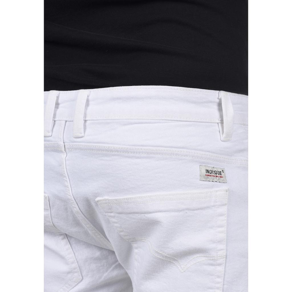 Indicode Jeansshorts »Hallow«, kurze Hose mit Destroyed-Effekten
