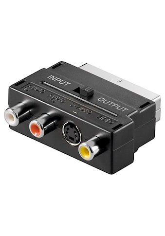 Goobay Scart zu Composite Audio Video und S - Video »Adapter; IN/OUT« kaufen
