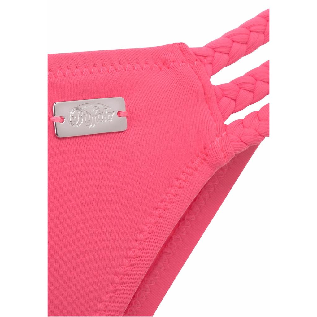 Buffalo Bikini-Hose »Happy«, mit geflochtenen Bändern