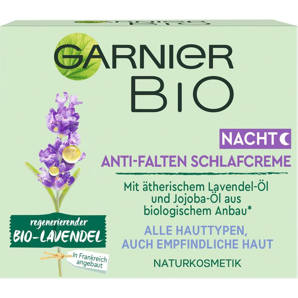 GARNIER Nachtcreme »regenerierender Bio-Lavendel Anti-Falten Schlafcreme«