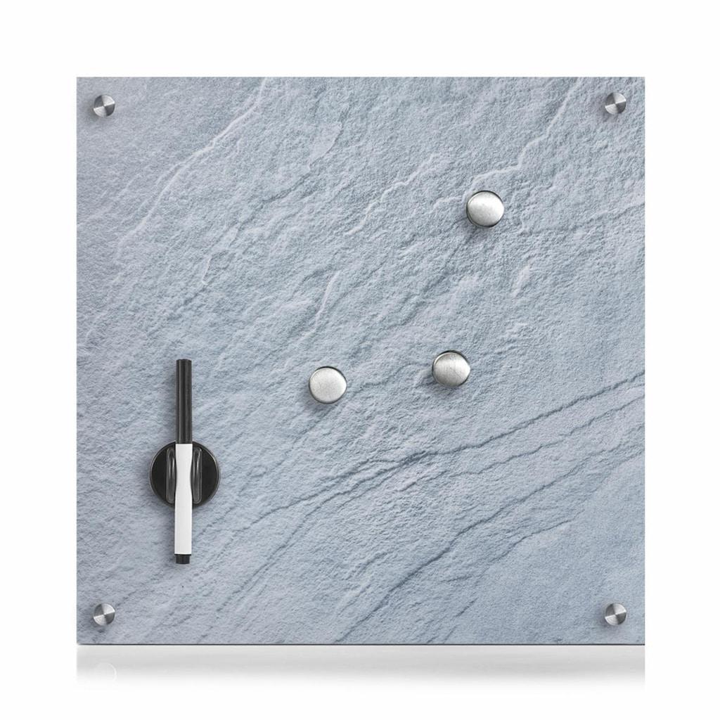 Zeller Present Pinnwand »Schiefer«, Glas, grau 40x40
