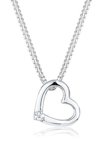 Diamore Collierkettchen »Herz Liebe Diamant (0.02 ct.) 925 Silber« kaufen