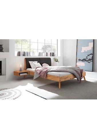 HASENA Massivholzbett »Simone«, Wildeiche, Fußhöhe 20 cm, mit Polsterkopfteil kaufen