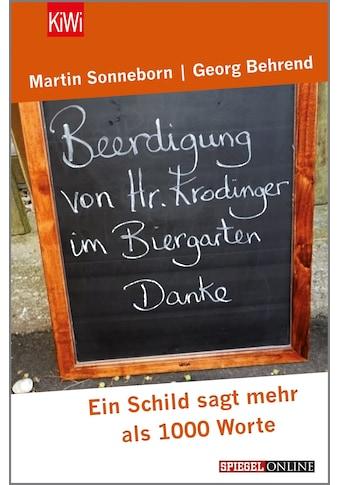 Buch »Beerdigung von Herrn Krodinger im Biergarten / Martin Sonneborn, Georg Behrend« kaufen