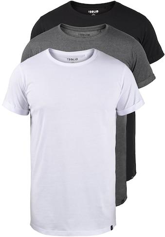Solid Longshirt »Longo«, T-Shirt im 3er-Pack kaufen