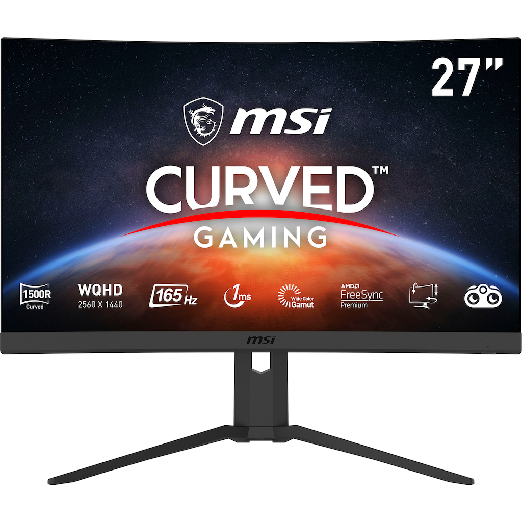 """MSI Curved-Gaming-Monitor »Optix G27CQ4P«, 69 cm/27 """", 2560 x 1440 px, QHD, 1 ms Reaktionszeit, 165 Hz, 3 Jahre Garantie"""
