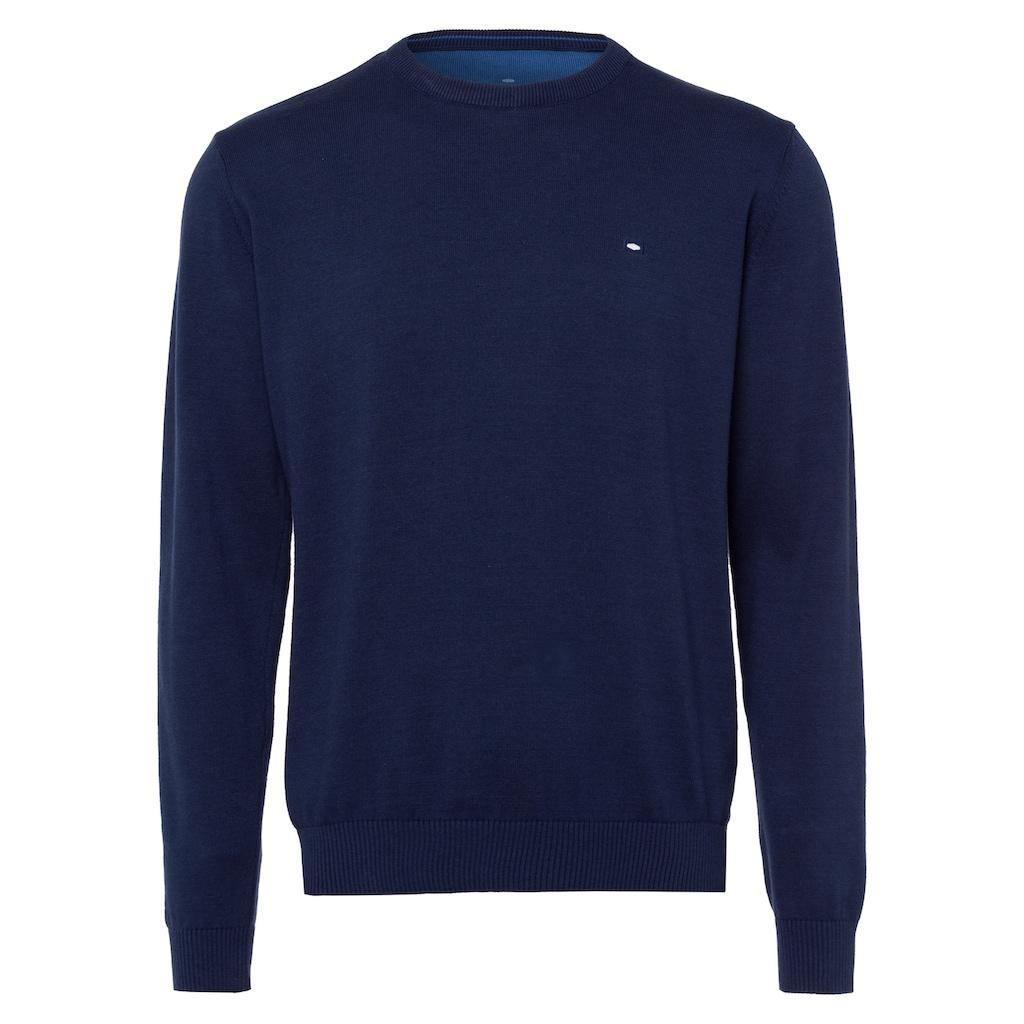 Cross Jeans® Strickpullover »34156«, Weiche Feinstrickqualität