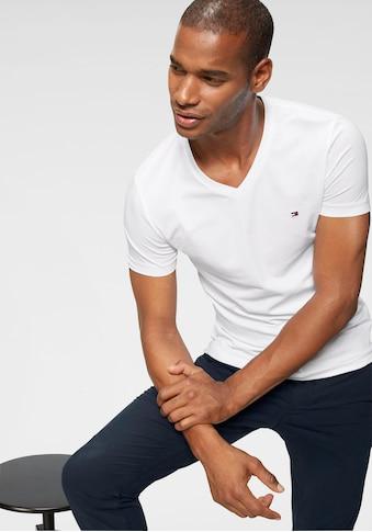 Tommy Hilfiger T-Shirt »CORE STRETCH SLIM V-NK TEE« kaufen