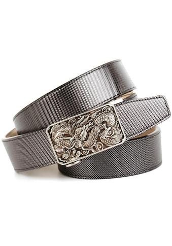 Anthoni Crown Ledergürtel, Schließe mit Drachen-Motiv kaufen