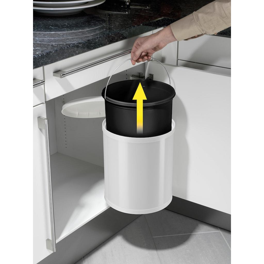 Hailo Einbaumülleimer »Compact-Box M«, weiß, Fassungsvermögen ca. 15 Liter