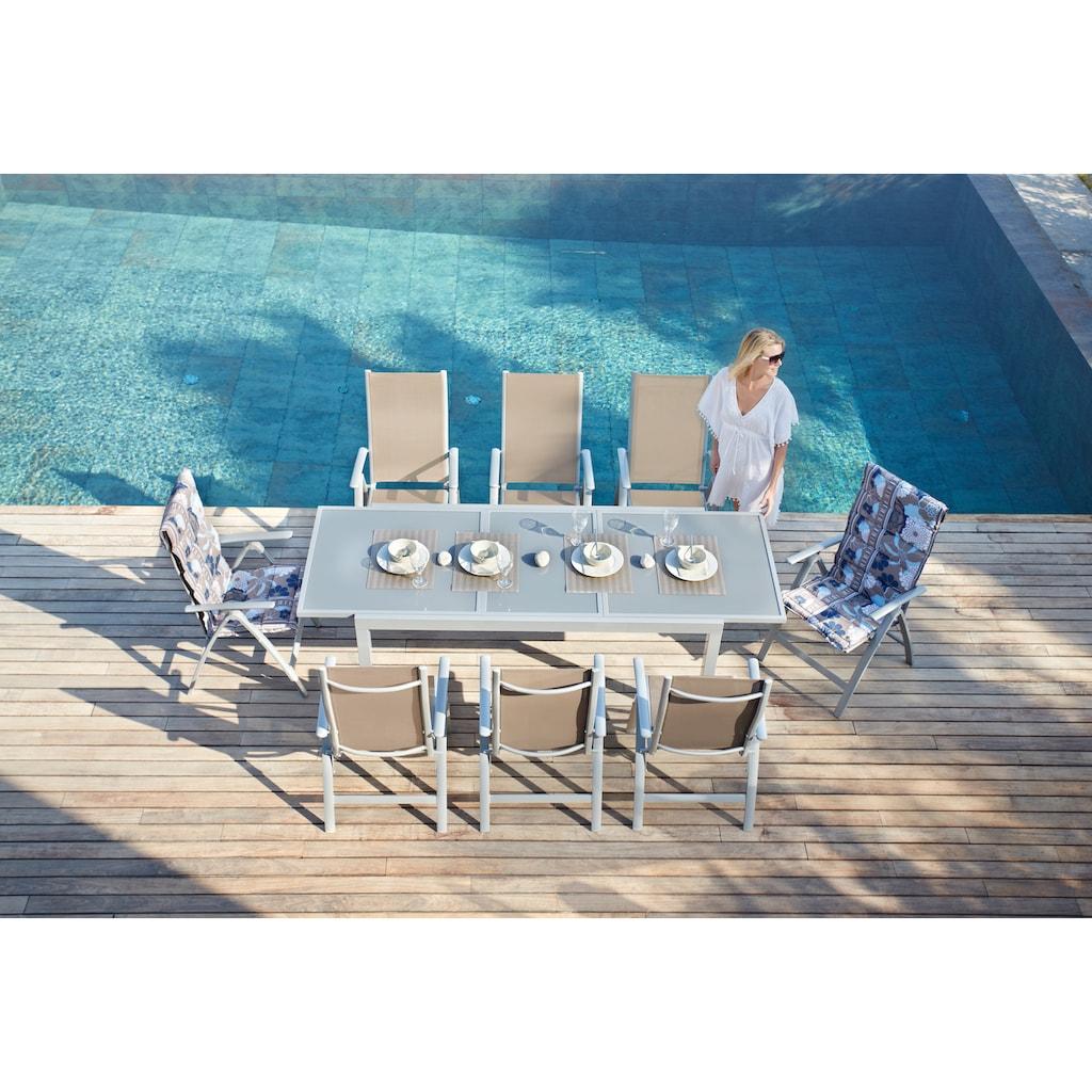 MERXX Gartenstuhl »Amalfi«, 2er Set, Alu/Textil, verstellbar