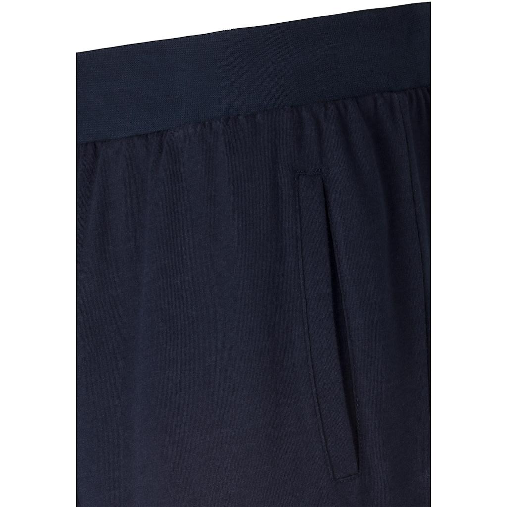 AUTHENTIC UNDERWEAR Schlafhose, (2er-Pack), aus weicher Single Jersey Ware