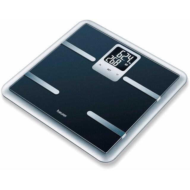 BEURER Körper-Analyse-Waage »BG 40«, Elegant gerahmte Glas-Diagnosewaage