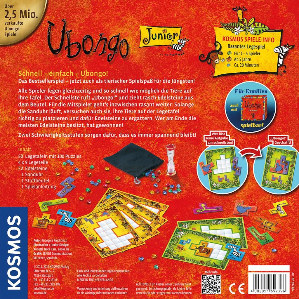 Kosmos Spiel »Ubongo Junior«