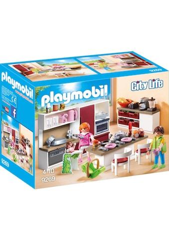 """Playmobil® Konstruktions - Spielset """"Große Familienküche (9269), City Life"""", Kunststoff kaufen"""